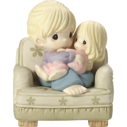 Nestled In Your Love - Bisque Porcelain Figurine, Mother and Daughter  - Country N More Gifts
