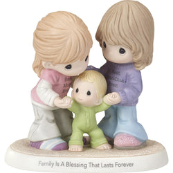 Family Is A Blessing That Lasts Forever - Bisque Porcelain Figurine  - Country N More Gifts