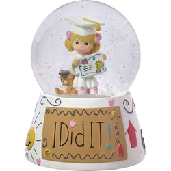 I Did It! - Resin Musical Snow Globe  - Country N More Gifts