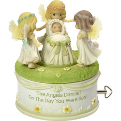 Angels Danced On The Day You Were Born - Resin Music Box  - Country N More Gifts