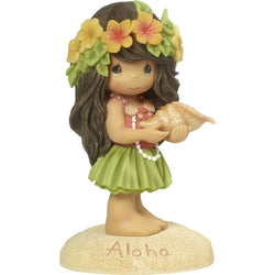 Aloha - Hawaiian Girl Resin Figurine  - Country N More Gifts