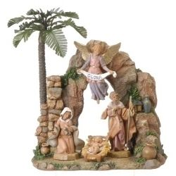 4 pc Figure Set with Grotto  - Country N More Gifts