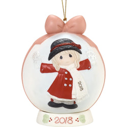 18 Dated Ball Ornament - Have A Magical Holiday Season 2018  - Country N More Gifts