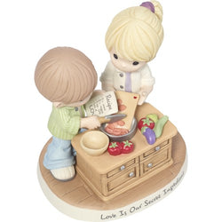 Love Is Our Secret Ingredient Bisque Porcelain Figurine  - Country N More Gifts