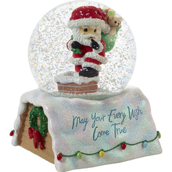 2018 10th Annual Santa Series Musical Snow Globe - May Your Every Wish Come True  - Country N More Gifts
