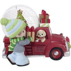 Christmas Is On Its Way - Musical Snow Globe  - Country N More Gifts