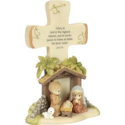 Glory To God - Resin Nativity Cross  - Country N More Gifts