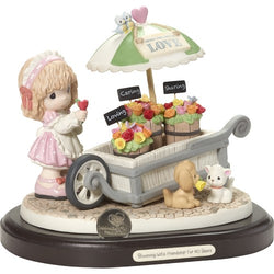Blooming With Friendship For 40 Years - Limited Edition 40th Anniversary Figurine With Commemorative Coin  - Country N More Gifts
