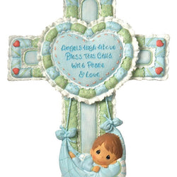 Baby Cross With Stand Boy  - Country N More Gifts