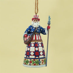 American Santa Hanging Ornament  - Country N More Gifts