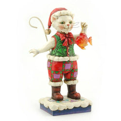 Catch The Christmas Spirit - Christmas Cat With Fish  - Country N More Gifts