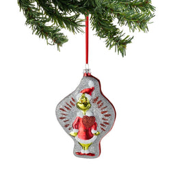 Big Hearted Grinch Glass Ornament  - Country N More Gifts