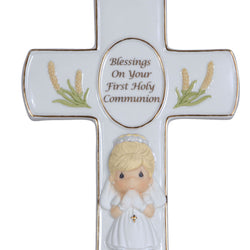 Blessings On Your First Holy Communion -  Communion Girl Cross  - Country N More Gifts