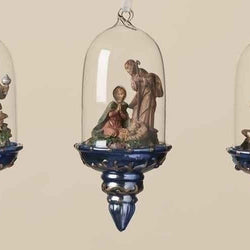 Glass Ornaments Set of 3  - Country N More Gifts