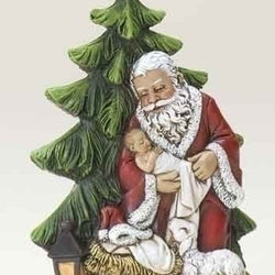 Kneeling Santa with Tree  - Country N More Gifts