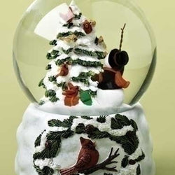 Cardinal and Snowman Dome  - Country N More Gifts