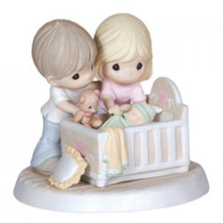 We're Glad You Came Into Our Lives - Parents with baby in Crib  - Country N More Gifts