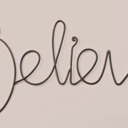 Believe Wall Word  - Country N More Gifts