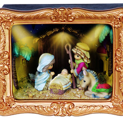 Nativity Deluxe LED Musical Shadow Box  - Country N More Gifts