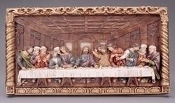 "11.5"" Last Supper Large Plaque  - Country N More Gifts"