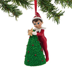 Elf Decorating Tree Ornament  - Country N More Gifts