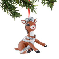 Rudolph Wrapped Up Ornament  - Country N More Gifts