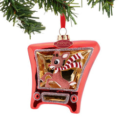 Rudolph TV Ornament  - Country N More Gifts