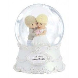 To Have And To Hold Wedding Couple Musical Water Globe  - Country N More Gifts