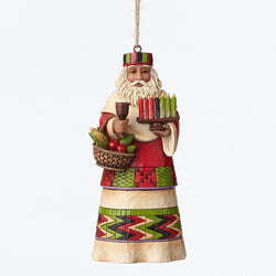 African Santa Around World Ornament  - Country N More Gifts