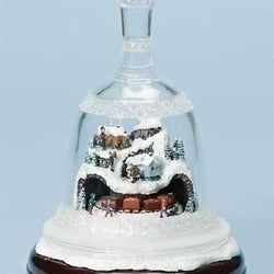 Christmas Bell With Scene  - Country N More Gifts