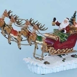 Rocking Santa Sleigh  - Country N More Gifts