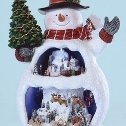 Snowman With Snow Scene  - Country N More Gifts