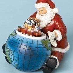 Santa With Globe  - Country N More Gifts
