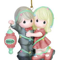 Our First Christmas Together Dated 2015 Couple Ornament  - Country N More Gifts