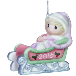 Baby's First Christmas - Dated 2015 Girl Ornament  - Country N More Gifts