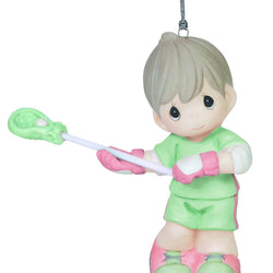 Catch The Spirit Boy Lacrosse Ornament  - Country N More Gifts