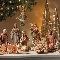 12 Piece SET of 6 Inch Nativity Figurines  - Country N More Gifts