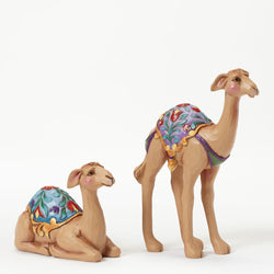 Set of Two Camels Mini Nativity  - Country N More Gifts