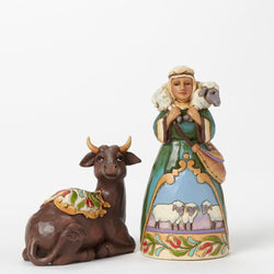 Ox And Shepherd Mini Nativity  - Country N More Gifts