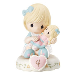 04 Age Blonde - Girl With Doll Age 4 Four - New Style  - Country N More Gifts