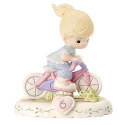 06 Age Blonde - Girl On Bicycle Age 6 Six - New Style  - Country N More Gifts