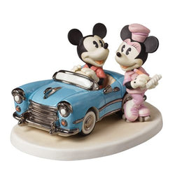You Make My Heart Race - Mickey in Car with Minnie on Skates  - Country N More Gifts