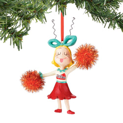 Cindy Cheering Ornament - Grinch  - Country N More Gifts