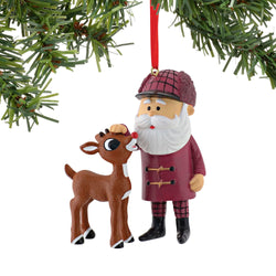 Rudolph And Santa Ornament  - Country N More Gifts
