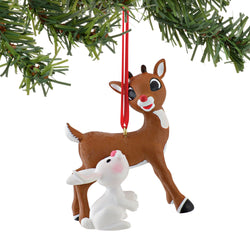 Rudolph And Bunny Ornament  - Country N More Gifts