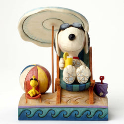 Beach Buddies - Snoopy and Woodstock at Beach  - Country N More Gifts