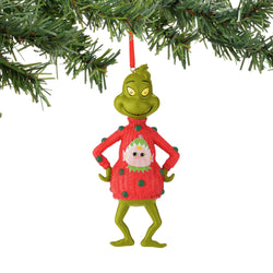 Grinch in Elf Sweater Ornament  - Country N More Gifts