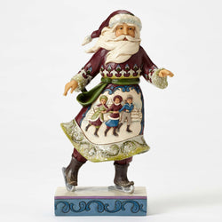 Victorian Skating Santa  - Country N More Gifts