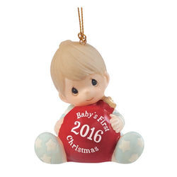 2016 Dated Babys First Christmas Boy Ornament  - Country N More Gifts