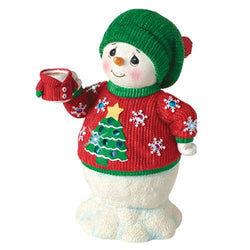 Snowman In Ugly Sweater - LED Musical  - Country N More Gifts